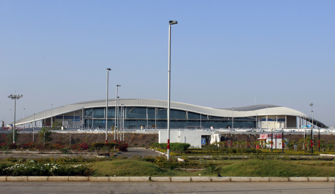 Raja Bhoj Airport serves Bhopal city in India.
