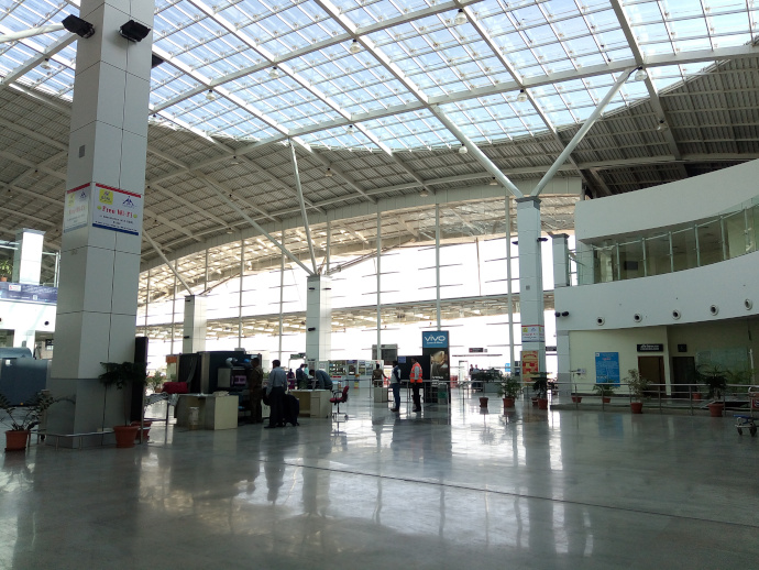 Bhopal Airport has a single passenger terminal.